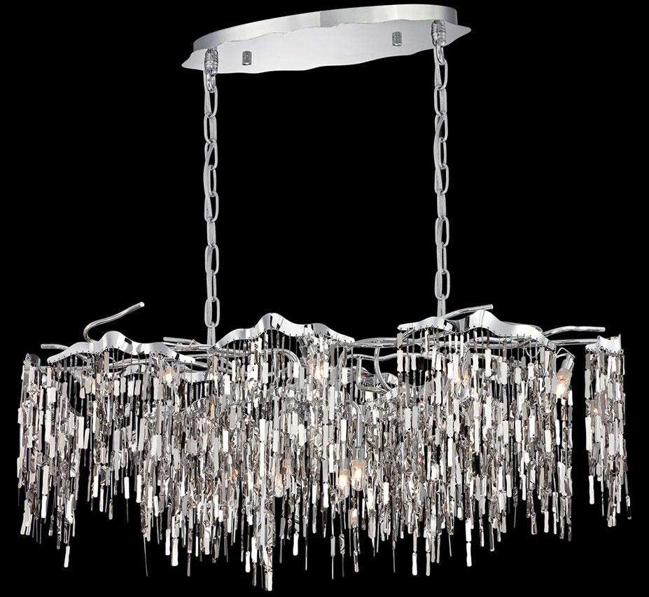 Elfassy 12 Light Contemporary Linear Chandelier Grand Light