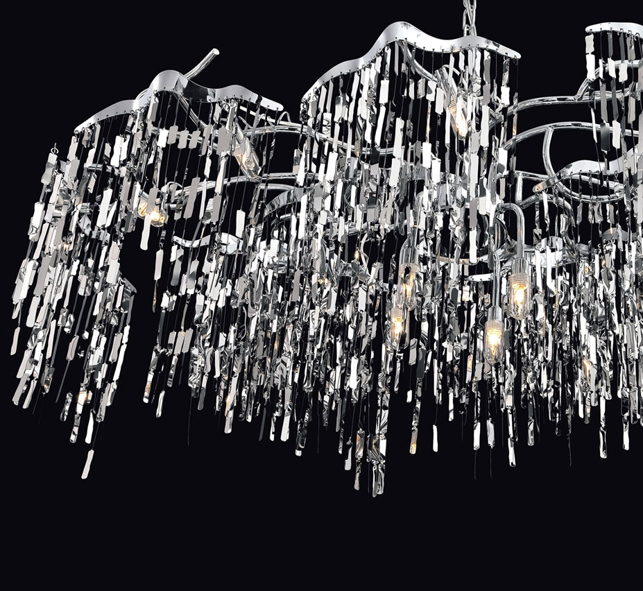 Elfassy 19 light extra large contemporary chandelier for Large modern chandelier lighting