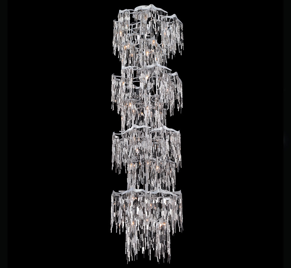 Elfassy 24 light extra large contemporary chandelier for Large modern chandelier lighting