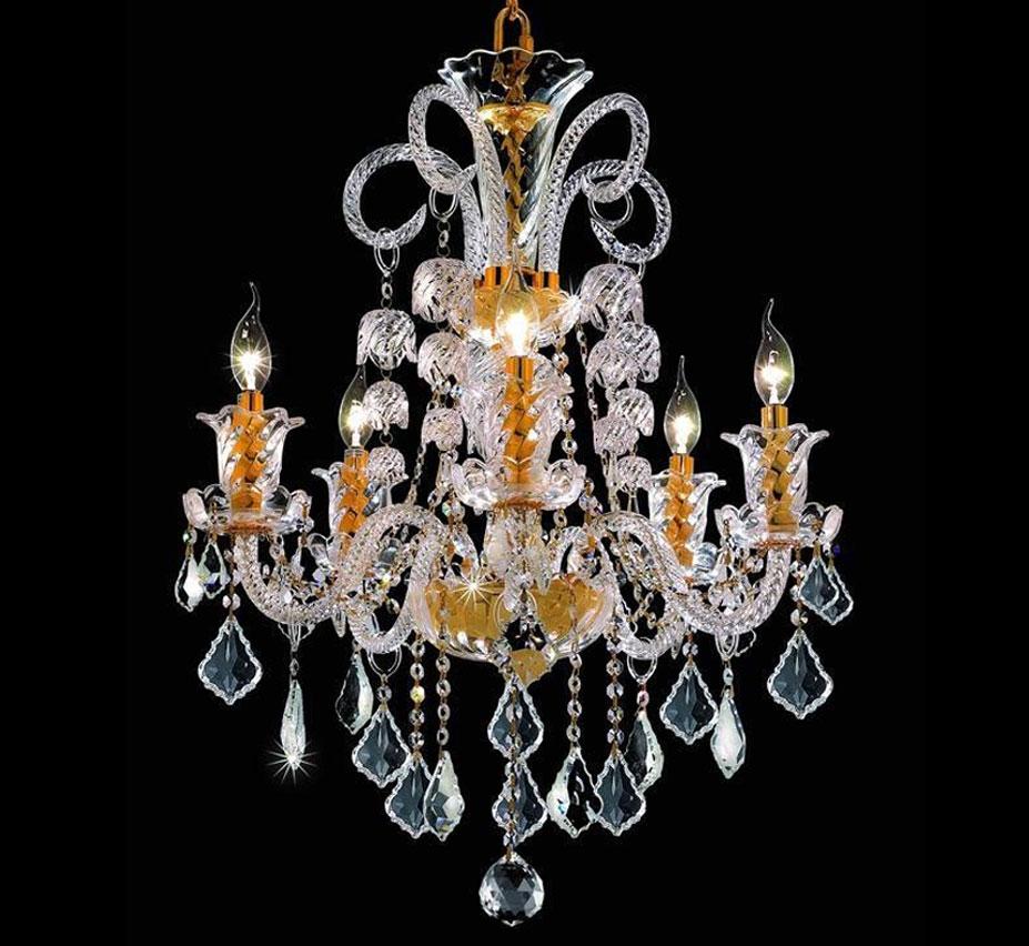 Elizabeth Collection 5 Light Large Crystal Chandelier