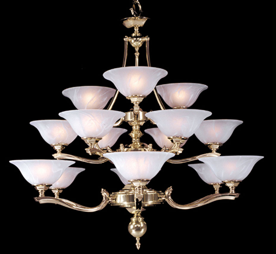 Fin de siecle collection 15 light large traditional chandelier grand light - Popular chandelier styles ...