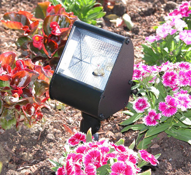 "Floodlight 3.5"" Incandescent Cast Aluminum 12v Directional Flood Landscape Light"
