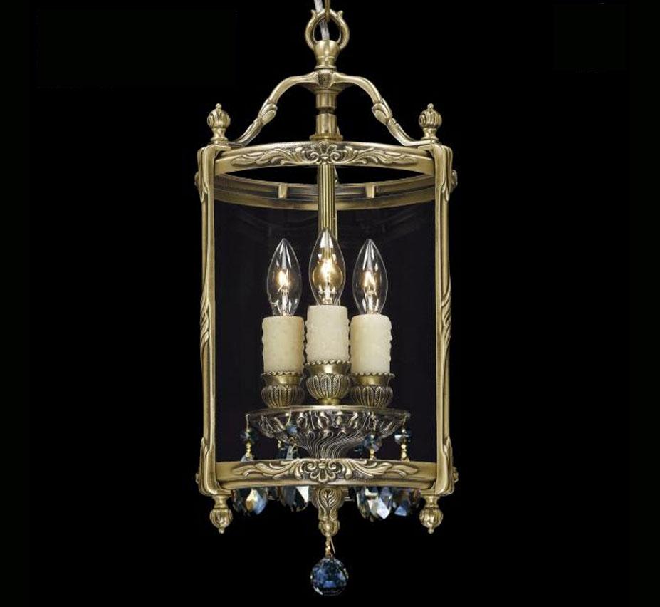 lantern collection 8 dia small brass crystal pendant light grand light. Black Bedroom Furniture Sets. Home Design Ideas