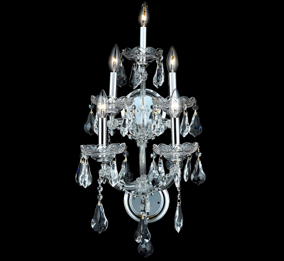 Large Crystal Wall Sconces : Maria Theresa Collection 12? W Medium Crystal Wall Sconce Grand Light