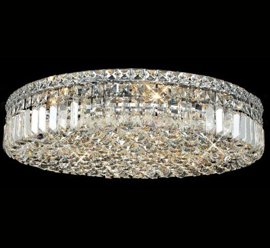 Paseo Collection 24 Dia Extra Large Crystal Flush Mount Ceiling Light