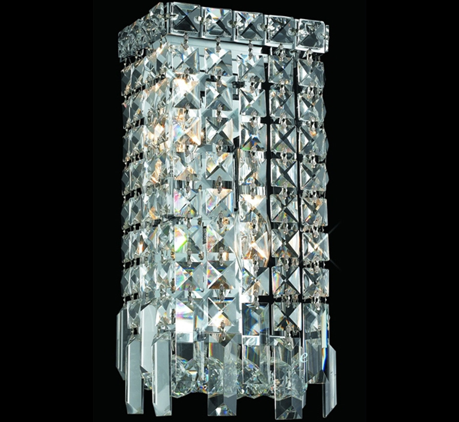 Paseo Collection 6 W Small Crystal Wall Sconce