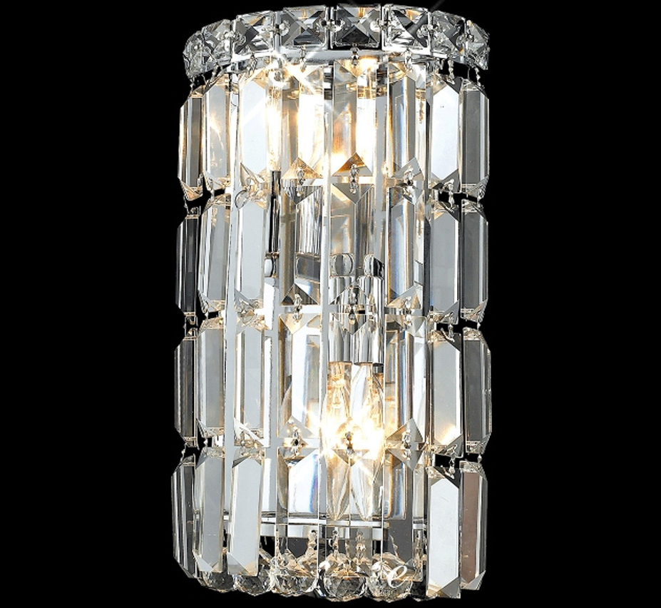 Maxim Collection 6 W Small Crystal Wall Sconce