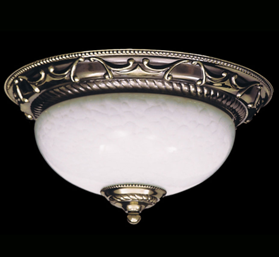 Napoleonic I Collection 12 Dia Small Traditional Flush Mount Ceiling Light