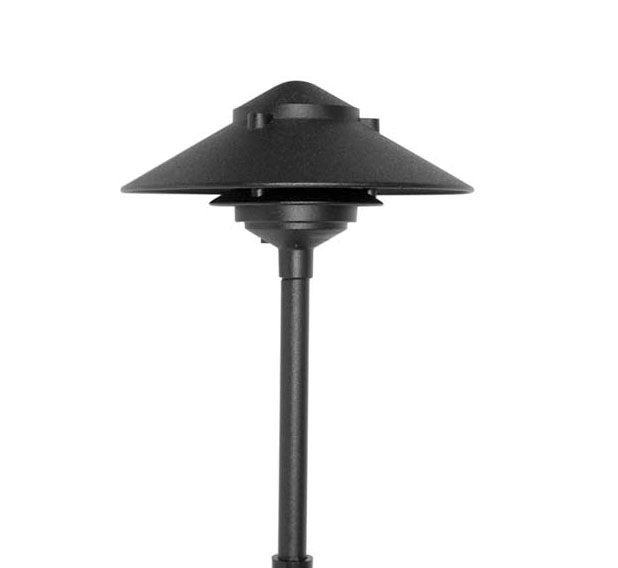 pagoda hat 2 tier 10 integrated led cast aluminum 12v area