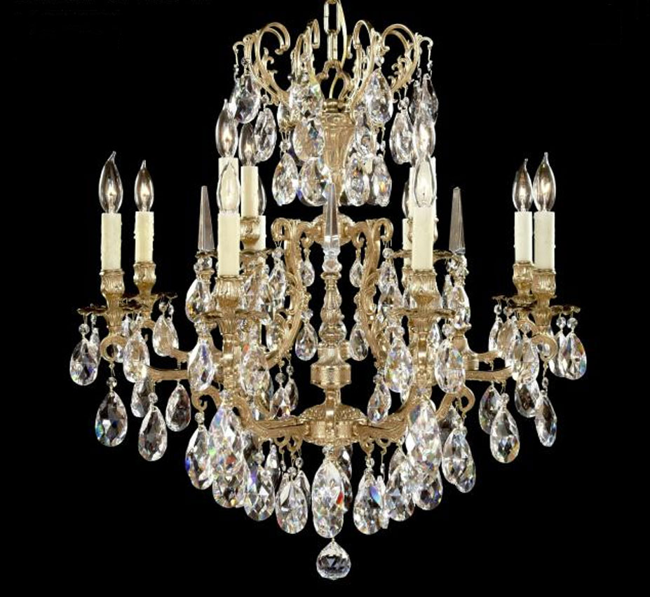 Parisian Collection 8 4 Light Large Brass Amp Crystal