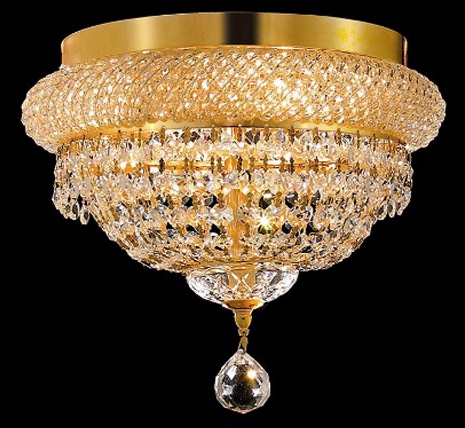 Small Crystal Flush Mount Ceiling Light Facebook Share