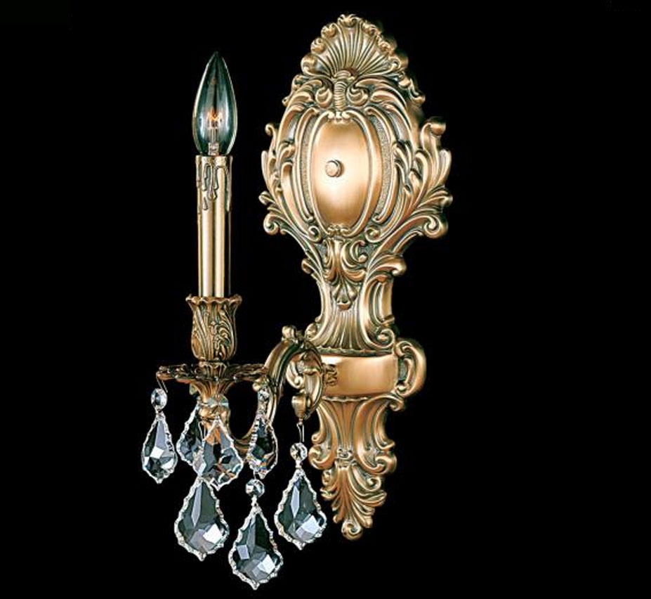 Large Crystal Wall Sconces : Sconce Collection 7? W Small Brass & Crystal Wall Sconce Grand Light