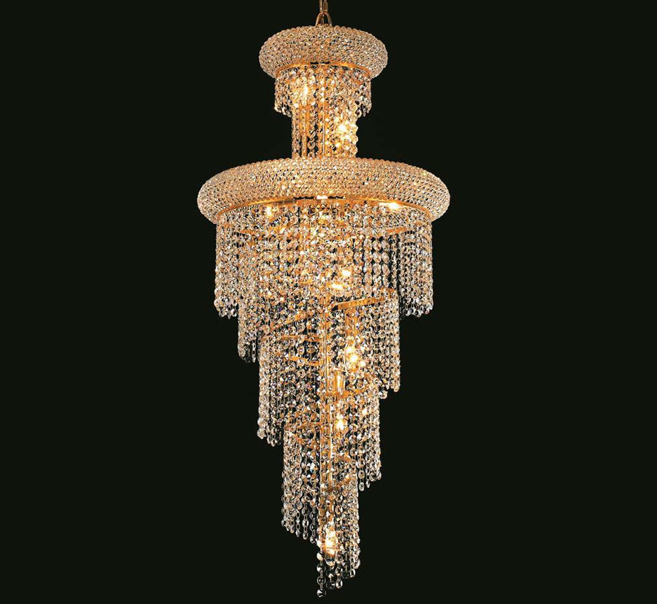 Spiral Collection 10 Light Large Crystal Chandelier
