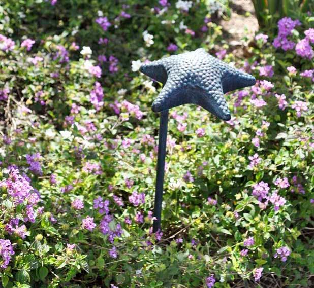 "Starfish Hat 7"" LED Cast Aluminum 12v Path Landscape Light"