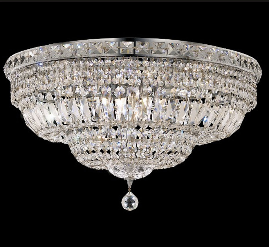 Tranquil collection 24 dia extra large crystal flush mount ceiling tranquil collection 24 dia extra large crystal flush mount ceiling light aloadofball Image collections