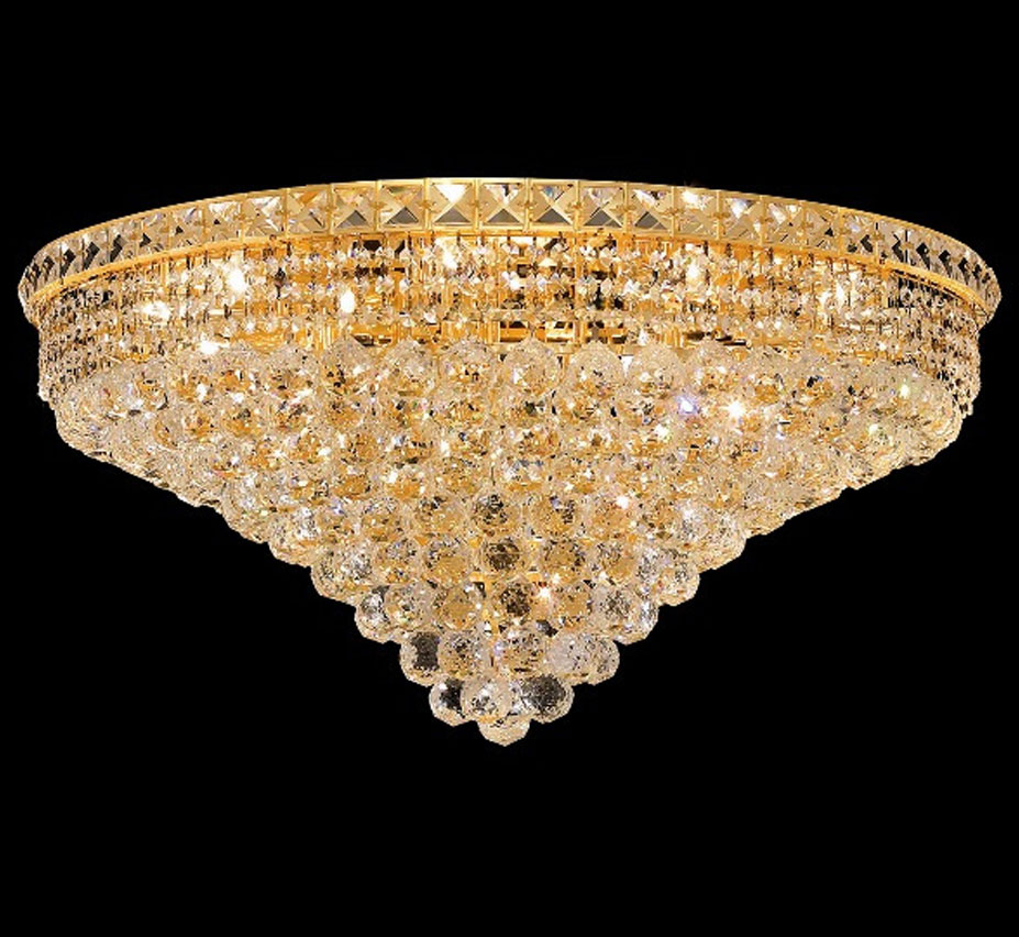 Tranquil Collection 30″ Dia Extra-Large Crystal Flush Mount Ceiling ...