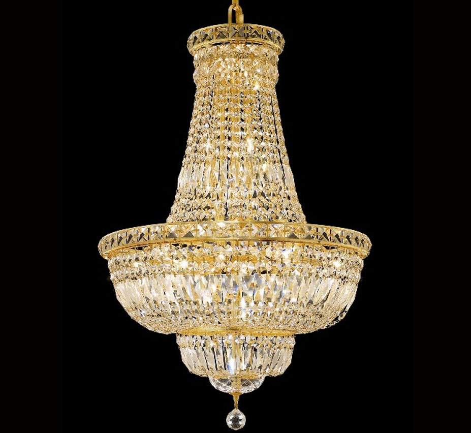 Canna Collection 18 Dia Large Crystal Flush Mount Ceiling