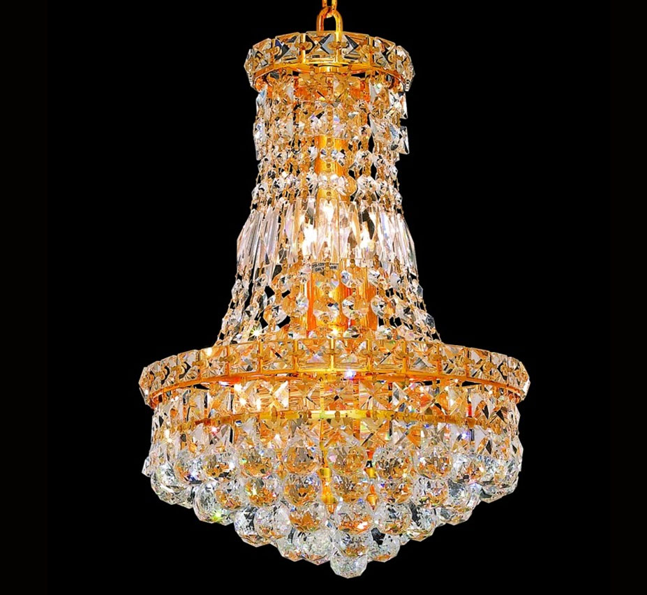Tranquil Collection 6 Light Small Crystal Chandelier