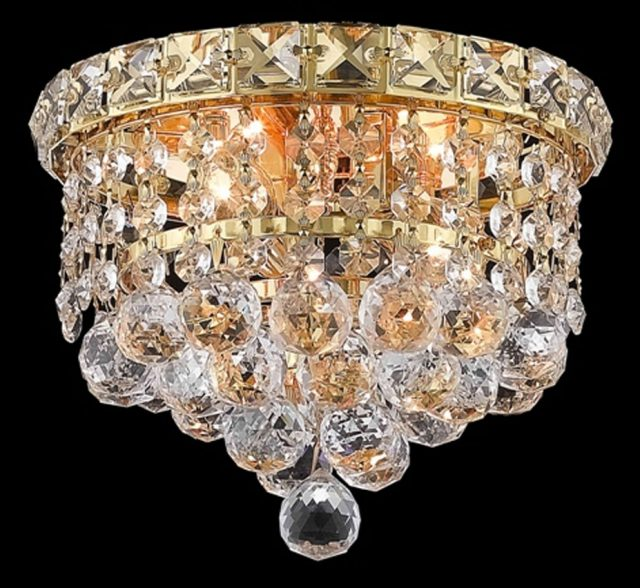 Tranquil Collection 8 Dia Small Crystal Flush Mount Ceiling Light
