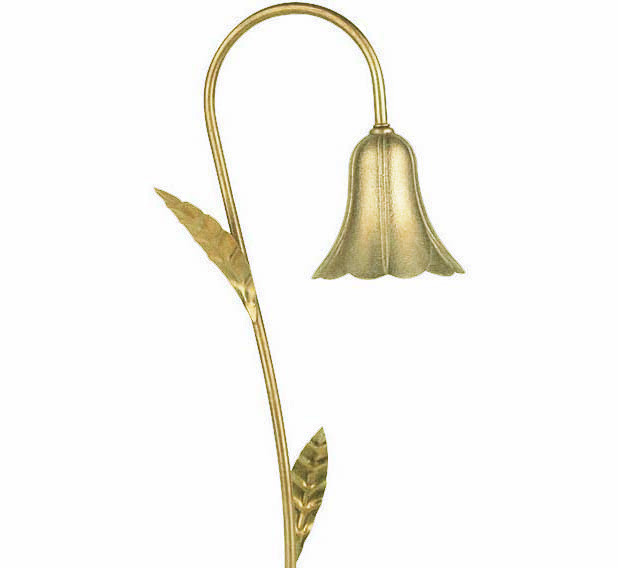"Tulip 4.5"" with Leaves LED Solid Brass 12v Path Landscape Light"