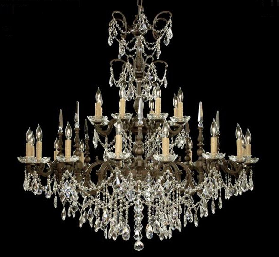 Venetian collection 24 lights extra large brass crystal chandelier venetian collection 24 lights extra large brass crystal chandelier aloadofball Images