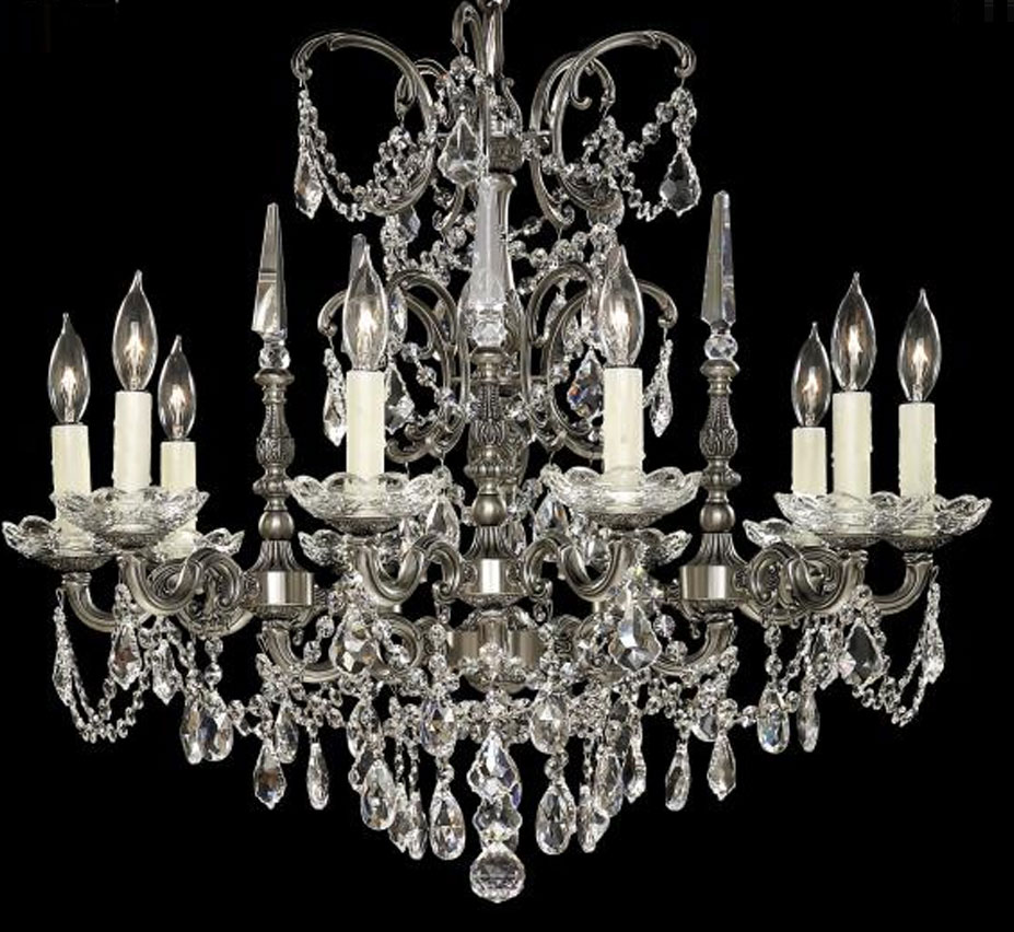 Venetian collection 10 light large brass crystal chandelier venetian collection 10 light large brass crystal chandelier aloadofball Images
