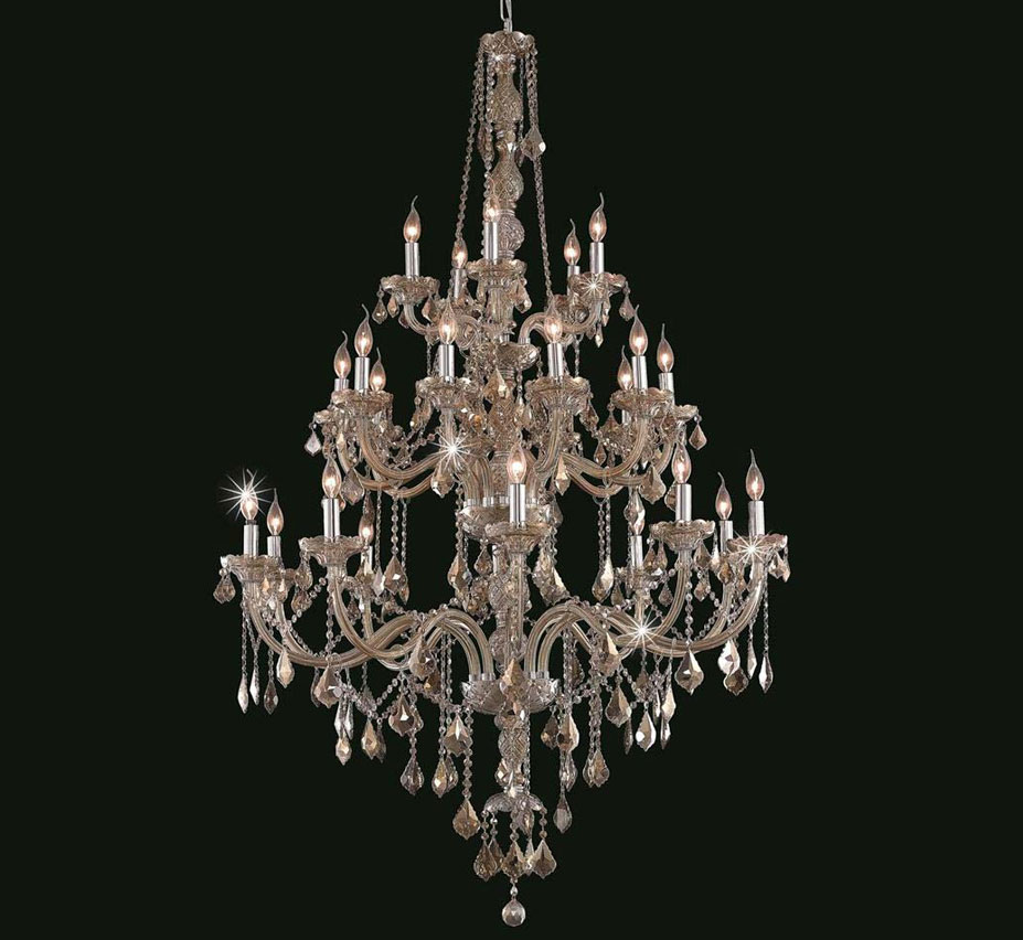 Verona Collection 25 Light Extra Large Crystal Chandelier Grand Light