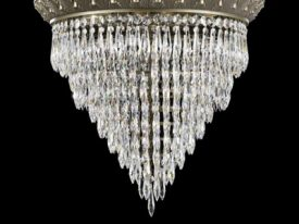 Extra Large Brass & Crystal Ceiling Lighting – 23″ Dia & Above
