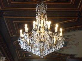 Brass & Crystal Chandeliers