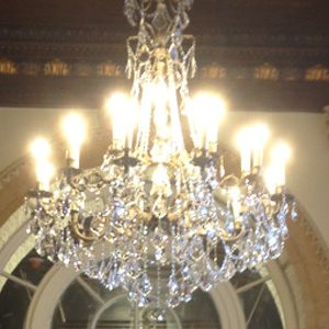 """Extra Large Brass & Crystal Chandeliers - 43"""" & Above"""