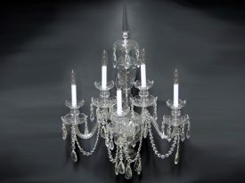 "Extra Large Crystal Wall Sconces - 21"" W & Above"