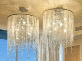 "Large Crystal Ceiling Lighting - 17"" to 22"" Dia"