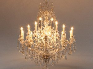 """Large Crystal Chandeliers - 27"""" to 42"""""""