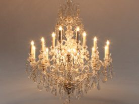 "Large Crystal Chandeliers - 27"" to 42"""