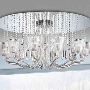 "Medium Crystal Ceiling Lighting - 13"" to 16"" Dia"