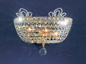 "Medium Crystal Wall Sconces - 9"" to 14"" W"