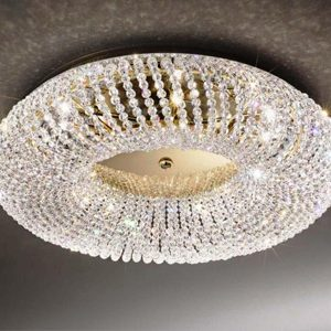 "Small Crystal Ceiling Lighting - 6"" to 12"" Dia"