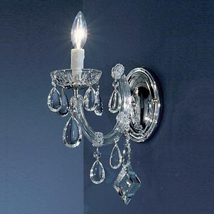 """Small Crystal Wall Sconces - 3"""" to 8"""" W"""