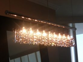 Crystal Linear Chandeliers