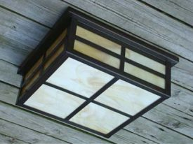Arts & Crafts Outdoor Ceiling Lighting