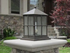 Traditional Outdoor Column Mount Lighting