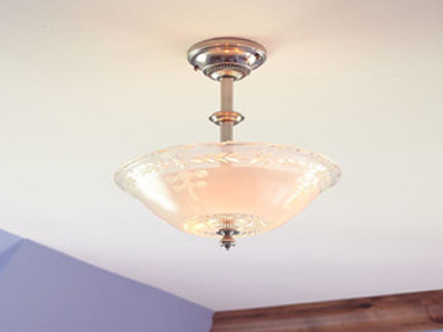 "Small Traditional Ceiling Lighting - 6"" to 12"" Dia"