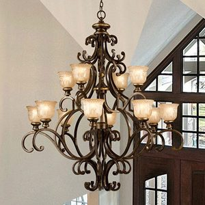"Extra Large Transitional Chandeliers - 43"" & Above"