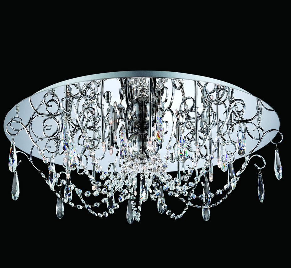 Alto 27 dia extra large crystal flush mount ceiling light