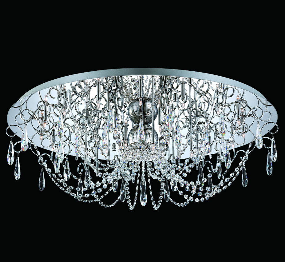 Alto collection 345 dia extra large crystal flush mount ceiling flush mount ceiling light facebook share aloadofball Gallery