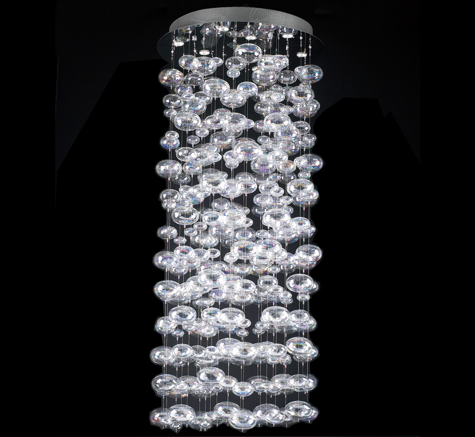 Extra large glass chandeliers bubbles collection 18 light extra large glass chandelier aloadofball Gallery
