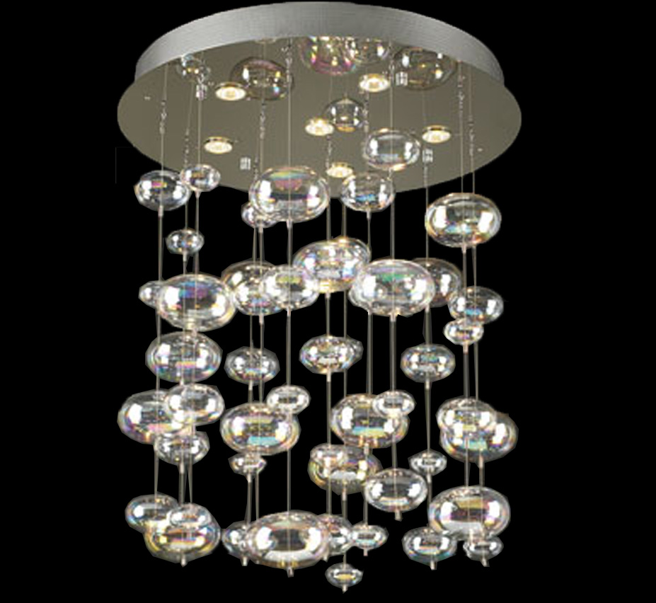 Large glass chandeliers bubbles collection 6 light large glass chandelier aloadofball Gallery