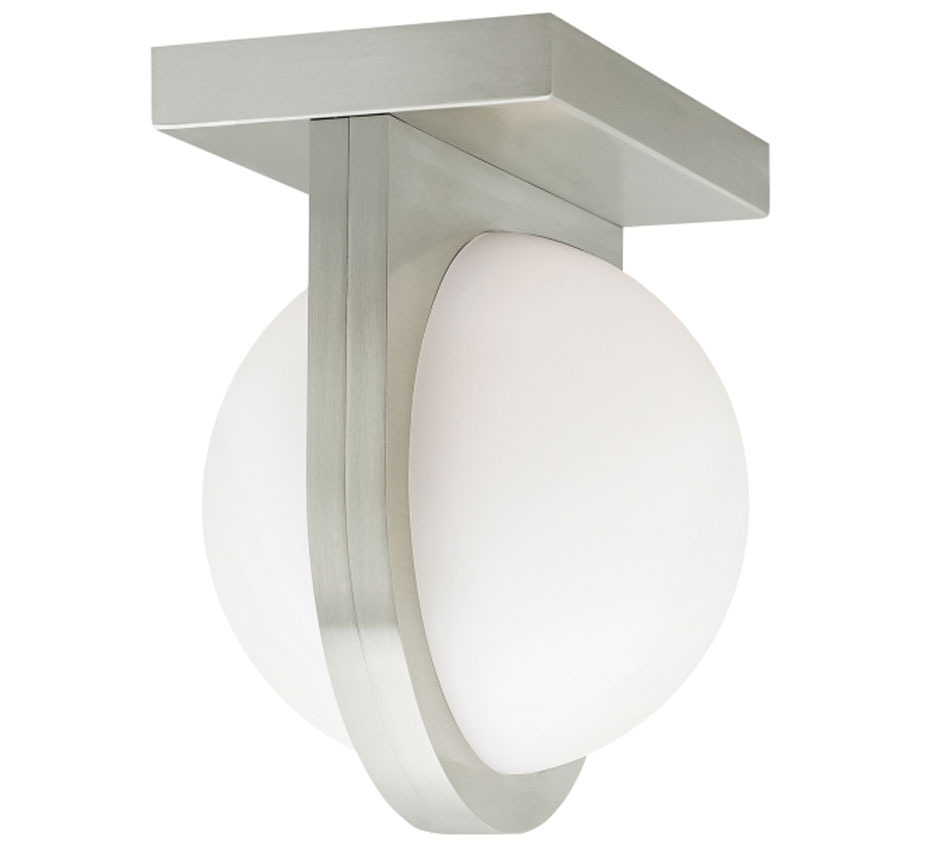 Capture 6 6 dia small contemporary led wall sconce flush for Flush with the wall