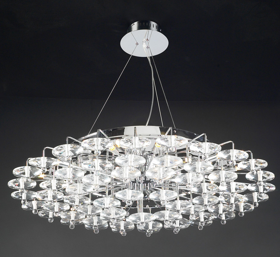 Diamente collection 18 light large contemporary chandelier for Large modern chandelier lighting