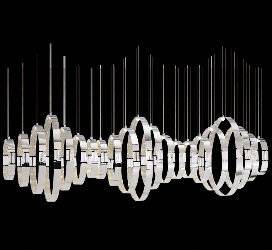 Glade 21 Light Extra Large Contemporary Linear Chandelier – Extra Large Chandeliers
